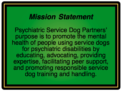 What are the steps to take to get a psychiatric services dog?