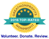 GreatNonprofits 2016 Top-Rated badge