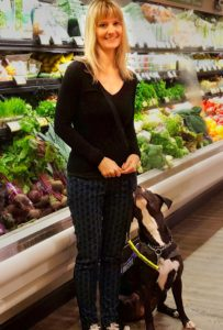 Heather and Phoenix at the grocery store