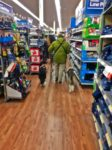 Melanie and Jacob and Winston in Walmart
