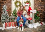 Patti and Izzy and Micah with Santa